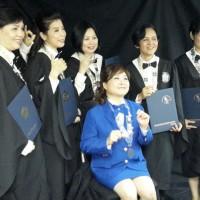 韓國國際美容健康總聯合會~香港分會~催乳按摩師資,並與創會會長彭玉玲女士及執行會長李禮廷先生合照
